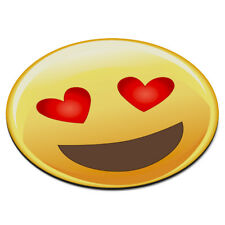 Emoji Corazón de Amor Ojos Cara Sonriente Circular Alfombra Ratón Ordenador PC -
