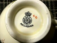 Vintage Miniature Creamer Arcadian Crested Welsh Tea Party Collectable
