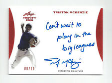 Triston McKenzie 2015 Leaf Trinity Inscription /10 RARE Auto Indians 9/10 1/1