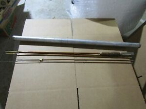 Unmarked 4 Piece Bamboo Fly Rod In Aluminum Tube