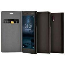 Genuine Nokia Slim Flip Folio Wallet Case Cover for Nokia 3 / 5 / 6 - Black
