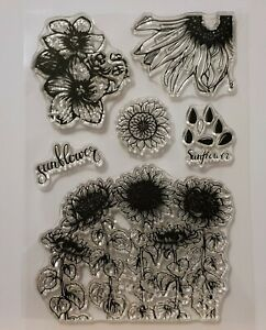 Sunflower Clear Stamp Set - 6 Different Stamps - BNIP - FREE P & P