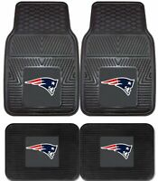 New England Patriots  NFL 2pc and 4pc Mat Sets - Heavy Duty-Cars, Trucks, SUVs