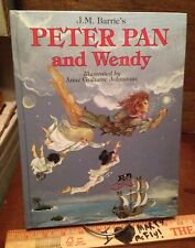 JM Barrie's Peter Pan & Wendy Illustrated By Anne Grahame Johnstone HC 1988 1stE