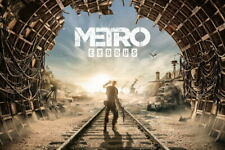 G1518 Metro Exodus Rails Tunnel Game Laminated Poster FR