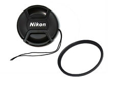 52mm Front Lens Cap Cover+ 52 mm MRC UV Filter for Nikon D3000 D3200 Camera