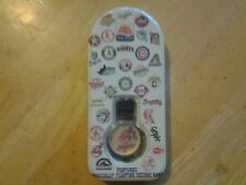 "SUN TIME CLEVELAND INDIANS QUARTZ WATCH W/ FLOATING ""GO TRIBE"" SECOND HAND"