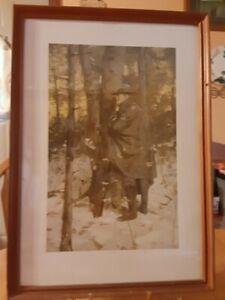 1907 Antique Art Print The Picket By William Gilbert Gaul Civil War