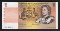 Australia R-71S. (1966) 1 Dollar - Coombs/Wilson. STAR Note.. Prefix ZAD.. UNC