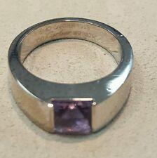Cartier Tank Ring Amethyst 18K Gold  Size 5.75 w/ Original Box Retail $3000