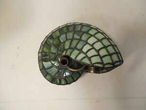 Tiffany ?? Stained Glass Nautilus Shell Lamp, No Base.