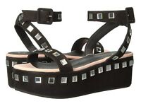 Giuseppe Zanotti E70200 Women's Sandals Sandal Platform Leather Black Glitter