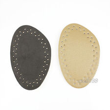 3 Pairs Anti-Slip Front Foot Leather Pad Half Shoes Insert Cushion Insoles