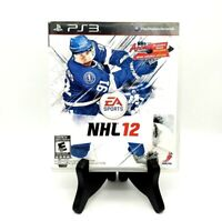 EA Sports NHL 12 Sony PS3 PlayStation 3 Complete Game Case And Manual Mint