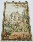 Huge Vintage French Forest Lake Picture Tapestry Wall Hanging Panel 148x96cm