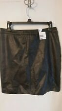 H&M  Faux-Leather Mini Skirt Sz 8 NWTS