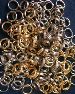 6mm Necklace Clasps split rings chain ends joiners 200 pcs Silver & Gold FPC101
