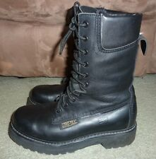"""SZ 6.5 2E BLACK LEATHER PROSPECTOR 10"""" GORE-TEX THINSULATE BOOTS MADE IN CANADA"""