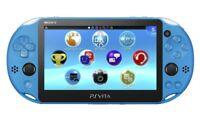 Playstation Vita - Konsole #Slim blau / Aqua Blue JAPAN mit OVP OVP beschädigt