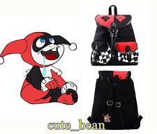 Harley Quinn Women's Backpack Knapsack Bag School Canvas Bag Cosplay Bags Gift