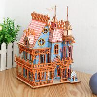 Dream Villa 3D DIY Wooden Educational Toy Building Puzzle Home Decor