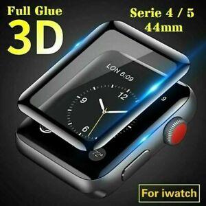 3D Apple Watch Serie 4 5 6 44 mm Panzerfolie Schutz Glas iWatch Displayschutz