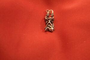 Anhänger Skelett 14,6g Sterling Silber 925 Gothik