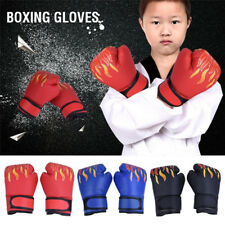 Children Adult Flame  Sport Boxing Gloves Boxing Equipment PU Leather Punching