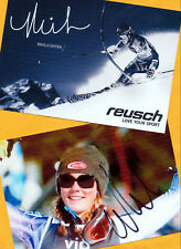 Mikaela shiffrin - 2 top autógrafo imágenes (18) - Print copies + ski ak firmado