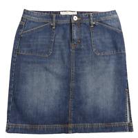 Vintage Tommy Hilfiger Blue Denim Knee Length Jean Skirt with Slits Women's 10