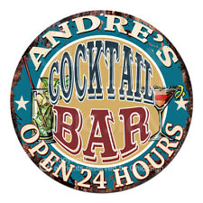 CPCO-0217 ANDRE'S COCKTAIL BAR Sign Valentine Father's Day Christmas Gift