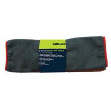 CAR VALETING MICROFIBRE CLOTHS-VALUE 6 PACK. LINT FREE, SUPER SOFT.SS5281