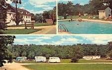 Port Republic New Jersey views of Chestnut Lake Campground vintage pc Z17173
