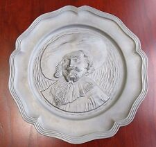 German Pewter Bleifrei Lierteller Vintage Plate Wall Decor Hanging 8 3/4""