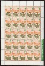 TRISTAN DA CUNHA 1972 FLOWERS 1p MINT SHEET 25 stamps