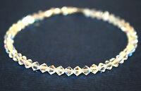 made with SWAROVSKI ELEMENTS Crystal AB Handmade Bridal Bridesmaid Bracelet 4mms