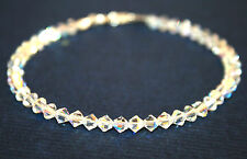 made with SWAROVSKI ELEMENTS Crystal AB Handmade Bridal Bridesmaid Bracelet 4mms