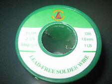 1 Spool Lead Free Solder Wire 1.0mm Dia Flux 2.0% Sn99Ag0.3Cu0.7, 1 Lbs