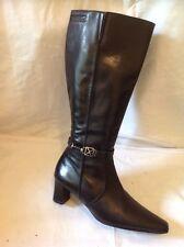 Tamaris Black Mid Calf Leather Boots Size 36