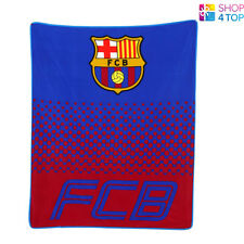 FC BARCELONA FADE FLEECE BLANKET COVER QUILT FOOTBALL SOCCER CLUB TEAM NEW