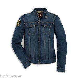 Ducati Scrambler Trucker Patch Ladies Jeans Jacket Denim Blue Lady New