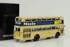1958 Büssing D2U Bus Doppeldecker Miele 1:43 Minichamps