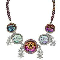 Kirks Folly Seaview Water Moon Snowflake Beaded Necklace (Silvertone)