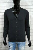 REFRIGIWEAR L Uomo Cardigan Felpa Maglia Maglione Grigio Sweater Herrenpullover