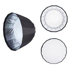 47in/120cm Deep Parabolic Umbrella Softbox 16 Rib Bowens Type Mount Photo Flash