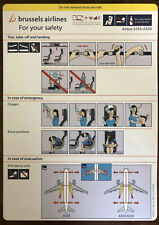 Brussels Airlines new 10.2018 issue safety card airbus a319 a320