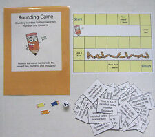 Teacher Made Math Center Learning Resource Rounding Numbers Game