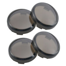 4x Smoke Turn Signals Light Lens Covers For Harley Sportster Electra Glide Dyna