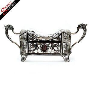 Antique Imperial Russian Artel Silver Centerpiece Basket Bowl FABERGE Era Kovsh