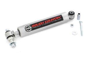 Rough Country Heavy Duty Steering Stabilizer for Jeep TJ, YJ, XJ, WJ, ZJ MJ & GM